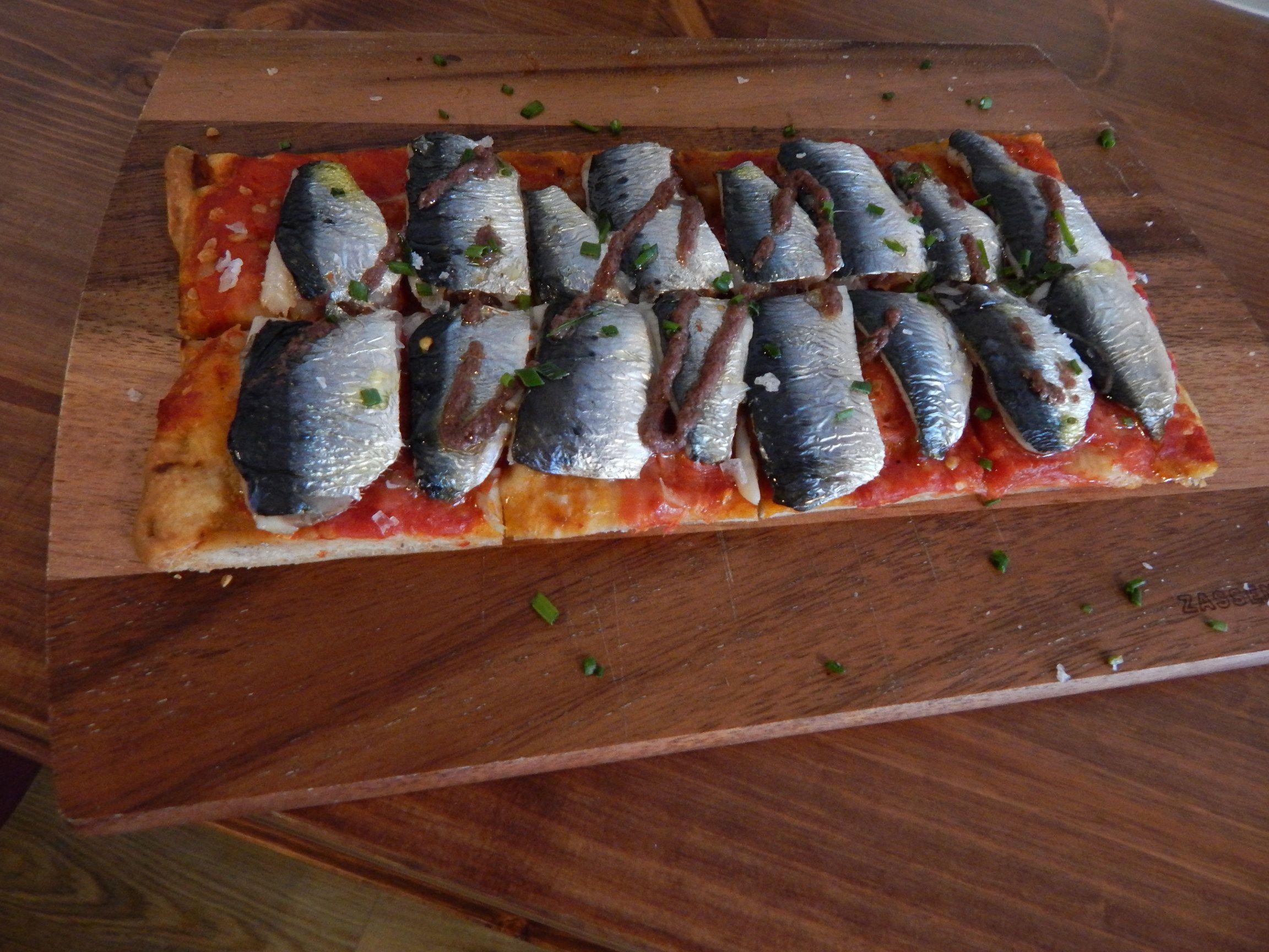 Coca de recapte amb sardines